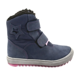 Boots with a membrane Mazurek 1352 navy blue