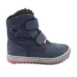 Boots with a membrane Mazurek 1353 navy blue
