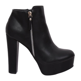Black KK28P Black platform boots