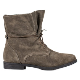Filippo Classic Leather Boots grey
