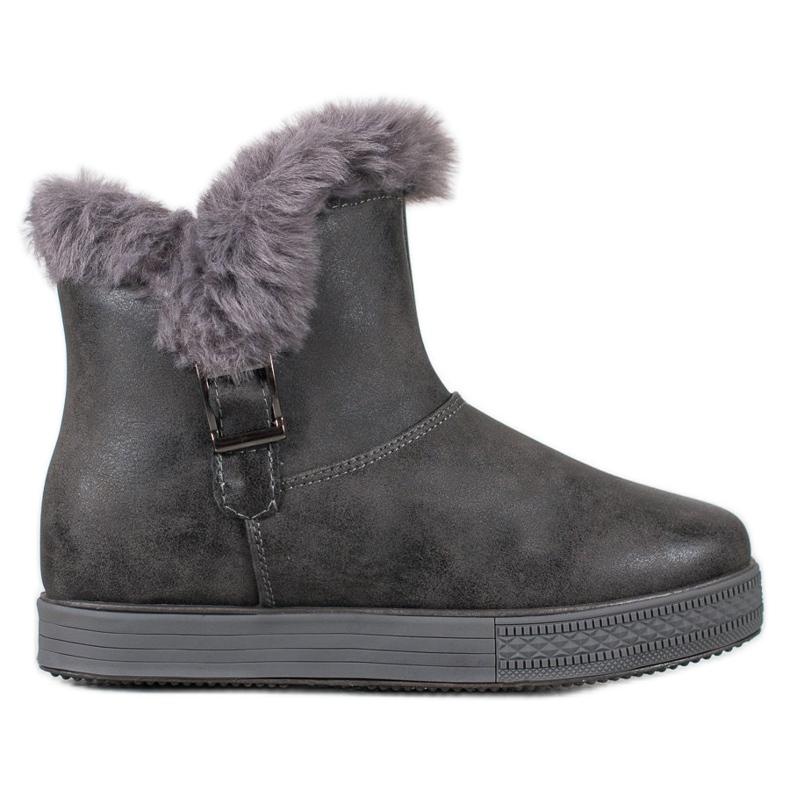 SHELOVET Booties With A Zipper grey