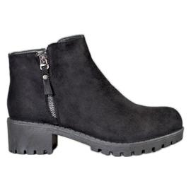 Diamantique Black Boots With A Slider