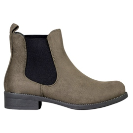 SDS Chelsea boots with crystals green