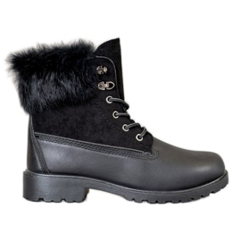 SHELOVET Trappers With Fur black