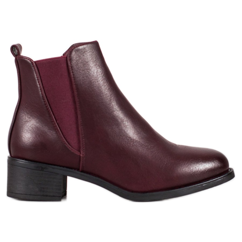 Ideal Shoes Classic boots with an elastic band red