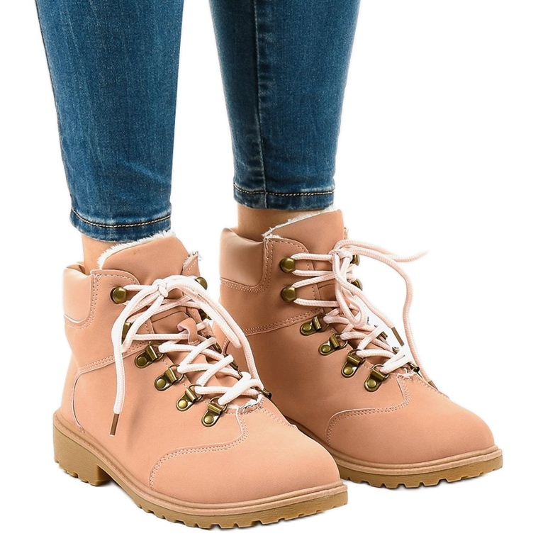 Pink insulated boots DS1702