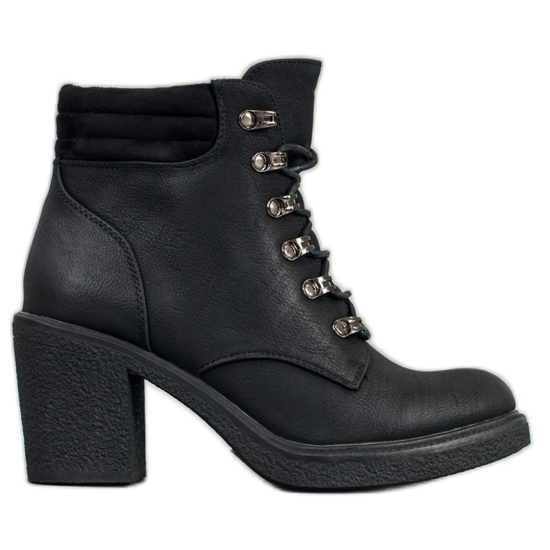 Queen Vivi Lace-up boots with eco leather black