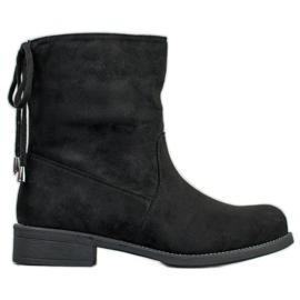 SDS Suede Booties black