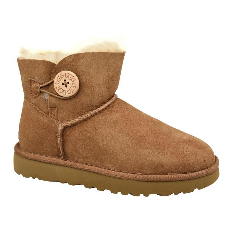 Ugg Mini Bailey Button Ii Shoes W 1016422-CHE brown