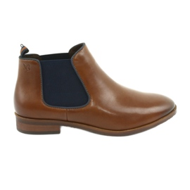 Brown Jodhpur boots Caprice 25327 navy blue