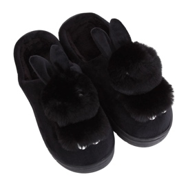 Black MA01 Black women's slippers