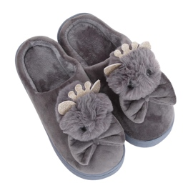 Gray Women's slippers DD112 Gray grey