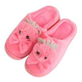 Women's slippers dark pink DD112 Red