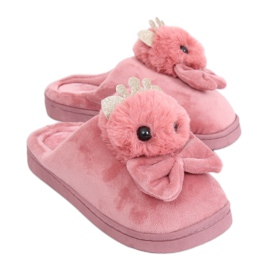 Dirty pink women's slippers DD112 Pink