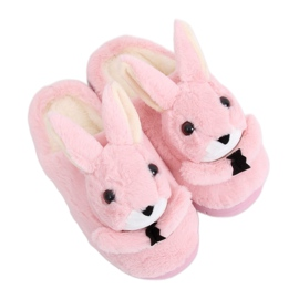 Bunnies women's slippers light pink MA17 Pink