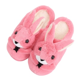 Bunnies women's slippers dark pink MA17 Red