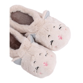 MA16 Milk White women's slippers brown