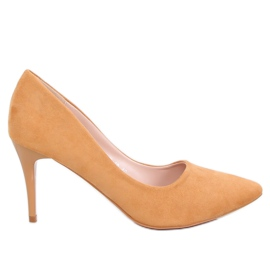 Pumps on a comfortable camel NF-49P Camel yellow