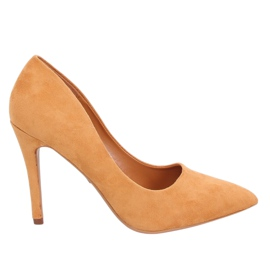 Camel heel pumps GG-70 Camel yellow