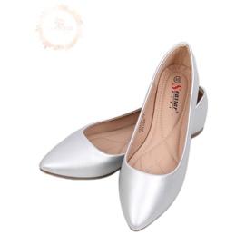 Almond silver ballerinas toes CD52P Silver grey