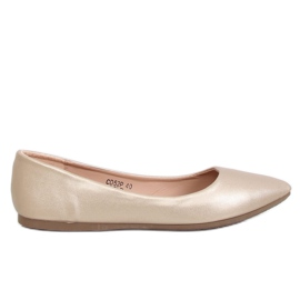 Ballerinas almond toe gold CD52P Gold yellow