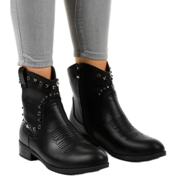 Black ankle boots with a L893-2 zipper