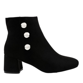 Black suede ankle boots on the L068 post