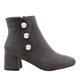 Gray suede boots on the L068 post grey