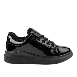 Black insulated sneakers TL140-1