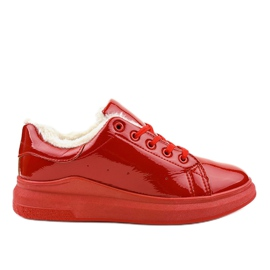 Red insulated sneakers TL140-3