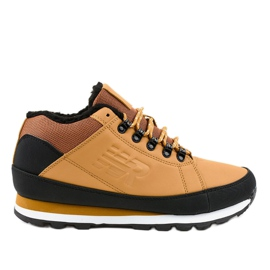 Yellow insulated snow boots 9WH917