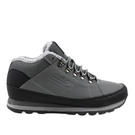 Gray insulated snow boots 9WH917