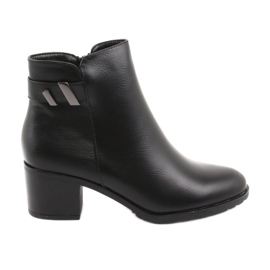 Insulated boots with zipper Daszyński SA153 black