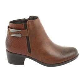 Jodhpur boots with a buckle Daszyński 1919 bronze brown