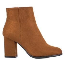 Marquiz Camel suede boots brown