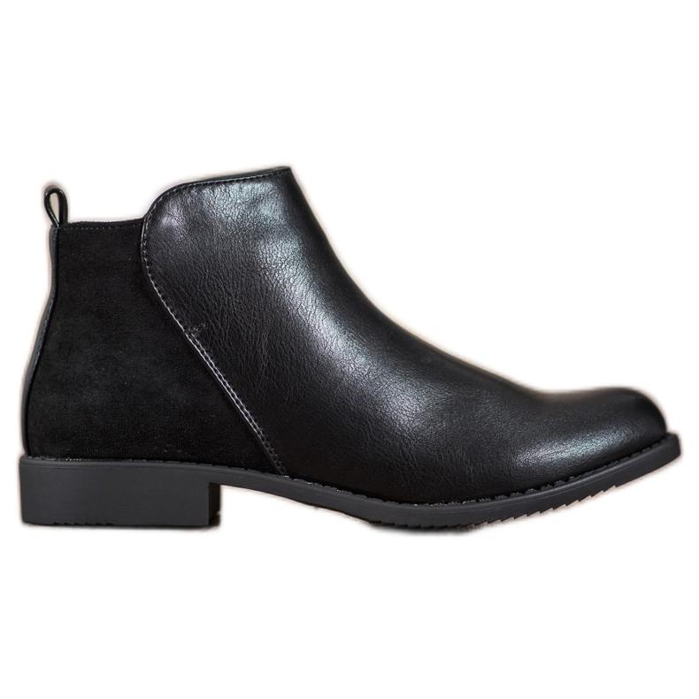 J. Star Flat Heel Boots black