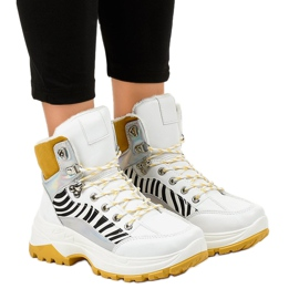 White women's insulated sneakers F-19208-2