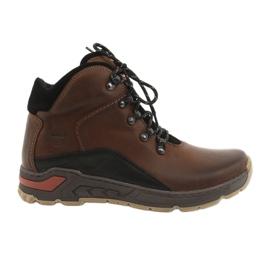 Trekking men's shoes Riko 903 brown / black