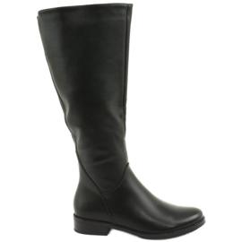 Leather boots Daszyński SA62 black