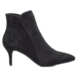 Kylie Suede Boots On A Stiletto black