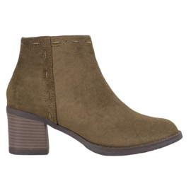 Kylie Olive Ankle Boots green