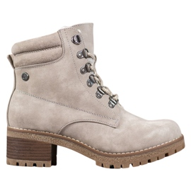 Goodin Beige Boots With Sheepskin brown