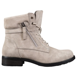 Goodin Beige Boots brown