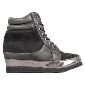 Sergio Leone Sneakers with crystals black