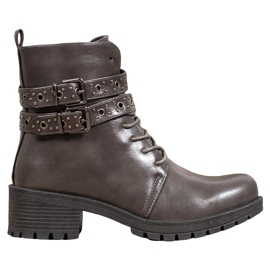 SHELOVET Lace-up Workers grey