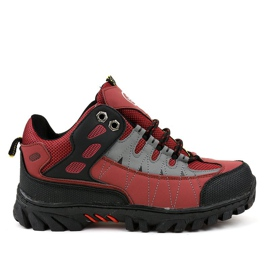 Red women's trekking shoes W317