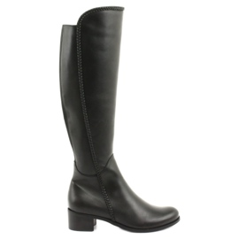 Long boots with a braid Espinto 194 Darex black