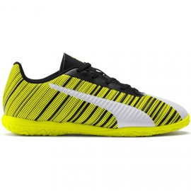 Puma One 5.4 It Jr 105664 04 football boots white, black, yellow yellow