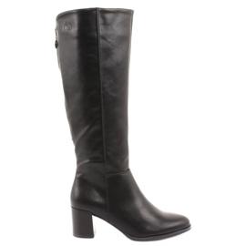 Black Sergio leone boots
