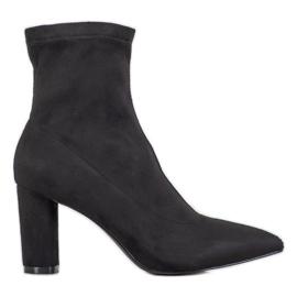 Filippo Stylish Slip-on Boots black